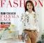 Pre-order เสื้อเชิ้ตแขนยาว เสื้อทำงานแขนยาว สีขาวพิมพ์ลายดอกไม้ แฟชั่นสไตล์เกาหลีปี 2015 thumbnail 1