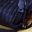 Pre-oder กระเป๋าสะพายหนังแท้ผู้หญิง เทคนิคกระเป๋าหนังสาน กระเป๋าวินเทจ สไตล์โบฮีเมียน สีดำจับจีบ thumbnail 4