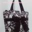 กระเป๋าสะพาย นารายา ผ้าคอตตอน สีน้ำตาล พิมพ์ลายดอกไม้ ผูกโบว์ (กระเป๋านารายา กระเป๋าผ้า NaRaYa กระเป๋าแฟชั่น) thumbnail 3