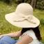 Pre-order หมวกฟางปีกกว้างแฟชั่นฤดูร้อน กันแดด กันแสงยูวี 6 สี สีเบจ thumbnail 1