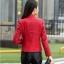 (Pre-order) เสื้อแจ็คเก็ตหนังแท้ เสื้อหนัง เสื้อโค๊ทหนัง เสื้อหนังแกะ แฟชั่นเสื้อหนัง สีแดง thumbnail 3