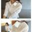 (Pre-Order) เสื้อแขนยาว เสื้อลูกไม้ โพลีเอสเตอร์ สีขาว แฟชั่นเกาหลีปี 2014 thumbnail 6