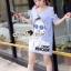 Seoul Secret Say's... Chill Open Shoulder Denim Dress Material : เดรสยีนส์เดนิมเก๋ๆ ชิคๆ ด้วยทรงเดรสเว้าไหล่ เก๋ๆ ด้วยงานพิมพ์ลายสาวแว่น เติมความเก๋ด้วยงานประดับด้วยวิ้งเลื่อมๆ ที่แว่นนะคะ ทรงเก๋น่าใส่ ใส่แมตซ์กับรองเท้าผ้าใบก็สวยเก๋แล้วคะ thumbnail 3