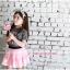 คอลเลคชั่นใหม่ 2016 เสื้อยืนแขนสั้นสีเทา สกรีนอักษรสีชมพู ผ้ายืดนิ่มมาก PinkIdea thumbnail 5
