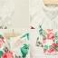 เดรสสีขาวลายดอกไม้ ระบายคอ PinkIdeal thumbnail 6