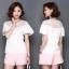 Pre-order เสื้อชีฟองประดับลูกไม้ แขนใบบัว สไตล์ย้อนยุคหวาน ๆ สีขาว thumbnail 3