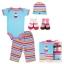 Gift Set เซ็ทของขวัญเด็กแรกเกิด Luvable Friends เสื้อยืด กางเกงขายาว หมวก ถุงเท้า thumbnail 3