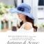 Pre-order หมวกผ้าไหมแท้ติดโบว์ดอกไม้แฟชั่นฤดูร้อน กันแดด กันแสงยูวี สวยหวาน สีฟ้า thumbnail 2
