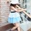 เสื้อผ้าเด็กสไตล์คุณหนู ชุดราตรีเด็ก ชุดออกงานเด็ก Phelfish สีฟ้า thumbnail 5