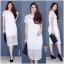 New !!! Maxi Dress ลูกไม้แขนสั้นงานถักลายตาราง ทรงสวย มีซับใน งานผ้านิ่มอย่างดี เนื้อผ้าถักลายแน่นๆ น่ารักมากๆๆ สี : ขาว ดำ thumbnail 1