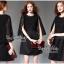 Elegant Black Lace Shawl Korea Dress เดรสสวยสง่าสไตล์งานแบรนด์ หรูหราด้วยทรงเดรสแขนกุด ตกแต่งผ้าลูกไม้เนื้อดีคลุมไหล่และช่วงอกของเดรส ผ่าช่วงแขนให้ดูมีดีเทลสวยสง่า กระโปรงทรงปล่อย งานสวยตามแบบ ใช้เนื้อผ้าอย่างดีในการตัดเย็บ บอกเลยงานนี้พลาดไม่ได้เลยค่ะ เน thumbnail 7