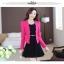 ชุดเดรสกระโปรงบานสีดำ+เสื้อสูท สีชมพูบานเย็น (ขายแยกชิ้น) thumbnail 3