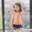 เสื้อเด็กหญิง PinkIdeal เสื้อสีชมพู ผูกโบว์ด้านหลัง thumbnail 3