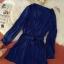 ชุดเดรสแฟชั่นผ้าชีฟองนิ่มพริ้วๆ มีสายผูกเอว กระดุมสีทองสีน้ำเงิน *มีภาพงานขายจริง thumbnail 5