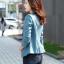 (Pre-order) เสื้อสูทแฟชั่น เสื้อสูทผู้หญิง แขนสามส่วน ผ้าลินินผสม สีฟ้า thumbnail 5