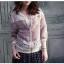 Pre-order เสื้อแจ๊คเก็ตแขนสามส่วน ผ้าถักประดับลูกไม้ เสื้อลำลอง thumbnail 3