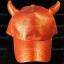 หมวกกากเพชร กลิตเตอร์ Glitter สีแดง Devil thumbnail 1