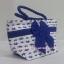กระเป๋าถือ นารายา Size S ผ้าคอตตอน พื้นสีขาว ลายช้างแม่-ลูก สีน้ำเงิน ผูกโบว์ สีน้ำเงิน สายหิ้ว หูเกลียว (กระเป๋านารายา กระเป๋าผ้า NaRaYa กระเป๋าแฟชั่น) thumbnail 1