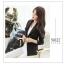 เสื้อสูทเข้ารูปไหล่ธรรมดา กระดุมผ้า มีกระเป๋าจริงแบบฝาปิด รุ่นX509 สีดำ thumbnail 1