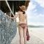 (Pre-order) หมวกปีกกว้าง หมวกสาน ป้องกันแดด สำหรับกิจกรรมกลางแจ้ง เที่ยวทะเล สีเบจ thumbnail 4
