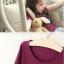 เสื้อยืด สีม่วง PinkIdeal thumbnail 2