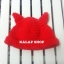 [พร้อมส่ง] หมวกไหมพรมหูแมวสีเรียบ มีสีดำ/แดง thumbnail 2
