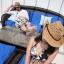 (Pre-order) หมวกปีกกว้าง หมวกสาน ป้องกันแดด สำหรับกิจกรรมกลางแจ้ง เที่ยวทะเล สีเบจ thumbnail 5