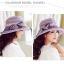 Pre-order หมวกผ้าไหมติดโบว์แฟชั่นฤดูร้อน กันแดด กันแสงยูวี สวยหวาน สีม่วง thumbnail 4