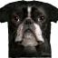 Pre.เสื้อยืดพิมพ์ลาย3D The Mountain T-shirt : Boston Terrier Face thumbnail 1