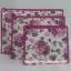 กระเป๋าเครื่องสำอางค์ นารายา ผ้าคอตตอน ทรงสี่เหลี่ยมผืนผ้า พื้นสีขาว ลายดอกกุหลาบ สีชมพู เป็นชุด 3 ชิ้น Size L,M,S (กระเป๋านารายา กระเป๋าผ้า NaRaYa) thumbnail 4