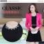 ชุดเดรสกระโปรงบานสีดำ+เสื้อสูท สีชมพูบานเย็น (ขายแยกชิ้น) thumbnail 6