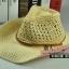 (Pre-order) หมวกปีกกว้าง หมวกสาน ป้องกันแดด สำหรับกิจกรรมกลางแจ้ง เที่ยวทะเล สีเบจ thumbnail 1
