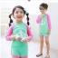 ชุดว่ายน้ำ เสื้อแขนยาว 3 ส่วน + กางเกง สีเขียวชมพู thumbnail 1