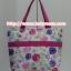 กระเป๋าสะพาย นารายา ผ้าคอตตอน พื้นสีขาว ลายดอกไม้ หลากสี ผูกโบว์ (กระเป๋านารายา กระเป๋าผ้า NaRaYa กระเป๋าแฟชั่น) thumbnail 5
