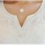 Pre-order เสื้อฤดูร้อนผ้ายืด ทอลูกไม้ คอวี สไตล์แฟชั่นเกาหลีแท้ สีขาว thumbnail 3