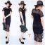 New !!! Maxi Dress ลูกไม้แขนสั้นงานถักลายตาราง ทรงสวย มีซับใน งานผ้านิ่มอย่างดี เนื้อผ้าถักลายแน่นๆ น่ารักมากๆๆ สี : ขาว ดำ thumbnail 3
