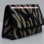กระเป๋าเครื่องสำอางค์ นารายา ผ้าคอตตอน ลายม้าลาย สีดำ-น้ำตาล มีกระจกในตัว Size L (กระเป๋านารายา กระเป๋าผ้า NaRaYa) thumbnail 1
