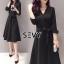 Sevy V-Neck Classy Black Ribbon Waist Dress Type: Dress Fabric: Spandex เนื้อผ้าเกรดดี เนื้อผ้ายืดหยุ่นได้ เนื้อผ้ามีน้ำหนักค่อนข้างมาก Detail : Dress ลุคเรียบหรู คอวี แขนยาว ชายแขนเสื้อผ่าขึ้นเล็กน้อย กระดุมผ่าหน้าใส่ง่าย มาพร้อมเชือกผ้าผูกเอว ใส่ออกมาแล thumbnail 2