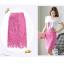 Pre-Order กระโปรงผ้าลูกไม้ ทรงดินสอ เอวสูง สีชมพู กระโปรงแฟชั่นเวอร์ชั่นเกาหลี thumbnail 7