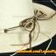 หมวกสาน คุณนาย สีขาวครีม พันเชือกน้ำตาล ครีม ร้อยลูกปัด สวยหวานมากๆ thumbnail 2