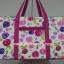 กระเป๋าเดินทาง นารายา Size L ทรงสี่เหลี่ยม ผ้าคอตตอน พื้นสีขาว ลายดอกไม้ หลากสี (กระเป๋านารายา กระเป๋า NaRaYa กระเป๋าผ้า) thumbnail 1