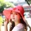 Pre-order หมวกแฟชั่น หมวกใบกว้าง หมวกฤดูร้อน กันแดด ผ้าโพลีเอสเตอร์ สีแดงแตงโม thumbnail 1