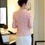 (Pre-order) เสื้อสูทแฟชั่น เสื้อสูทผู้หญิง ผ้าลูกไม้ทอทั้งตัว แขนสามส่วน แฟชั่นสไตล์เกาหลี ปี 2015 สีชมพู thumbnail 4
