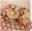 Pre-order หมวกผ้าไหมแท้ติดโบว์ดอกไม้แฟชั่นฤดูร้อน กันแดด กันแสงยูวี สวยหวาน สีน้ำตาล thumbnail 7