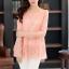(Pre-Order) เสื้อลูกไม้ชีฟองแขนยาว สีพื้น เสื้อทำงานหรือลำลอง แฟชั่นเสื้อลูกไม้สไตล์เกาหลีปี 2014 thumbnail 4