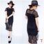 New !!! Maxi Dress ลูกไม้แขนสั้นงานถักลายตาราง ทรงสวย มีซับใน งานผ้านิ่มอย่างดี เนื้อผ้าถักลายแน่นๆ น่ารักมากๆๆ สี : ขาว ดำ thumbnail 4