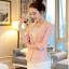 (Pre-order) เสื้อสูทแฟชั่น เสื้อสูทผู้หญิง ผ้าลูกไม้ทอทั้งตัว แขนสามส่วน แฟชั่นสไตล์เกาหลี ปี 2015 สีชมพู thumbnail 1