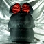 หมวกแก๊ป Cap สีดำ โบว์แดงดำ 2 ชั้น บนหมวก thumbnail 1
