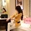 Pre order เสื้อสูทแฟชั่นเกาหลี ปกสูท แขนยาว แต่งด้วยผ้าต่างสีที่ปกและกระเป๋า สีเหลือง thumbnail 2