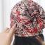 (Pre-order) หมวกไหมพรม หมวกคลุมผม แบบ 3 in 1 เป็นหมวกกันหนาว เป็นหมวกคลุมผม เป็นผ้าพันคอ ผ้าฝ้ายพิมพ์ลายกราฟฟิก สีโทนแดง thumbnail 4